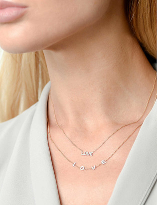 THE ALKEMISTRY Kismet by Milka Love 14ct rose gold and diamond necklace