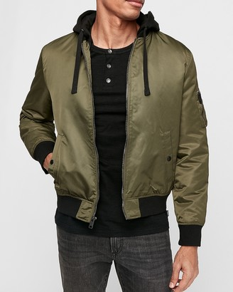 Express Fleece System Hooded Bomber Jacket