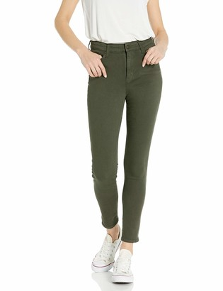 Goodthreads High-rise Skinny Jeans Cropped Fray Resin Dark Fade Wash 29 Short