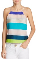 Milly Striped Camisole with Draped Back