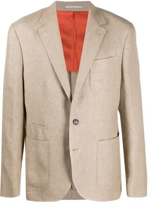 Brunello Cucinelli Single-Breasted Multi-Pocket Blazer