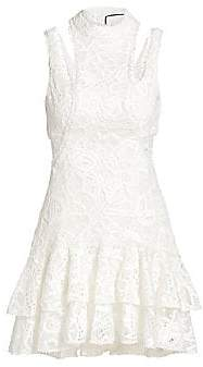 Alexis Women's Kirsi Lace Cutout Mini Dress