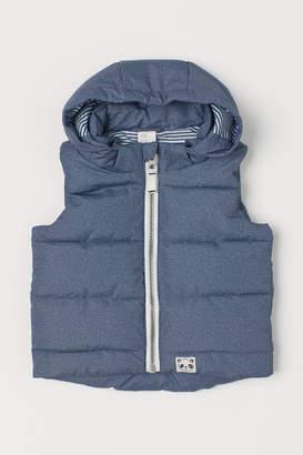 H&M Padded Hooded Vest - Blue