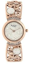 Titan Women's 'Raga Aurora' Quartz Stainless Steel and Brass Casual Watch, Color:Rose Gold-Toned (Model: 95046WM01)
