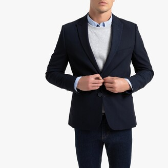Slim Fit Suit Jacket with Single-Breasted Buttons