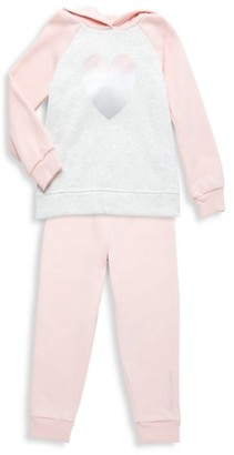 Calvin Klein Little Girl's Hoodie & Jogger Pants Set