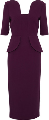 Roland Mouret Wool-crepe Peplum Dress