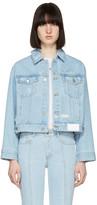 Sjyp Blue Denim Back Button Jacket