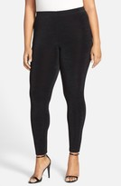 Vikki Vi Plus Size Women's Stretch Knit Slim Pants