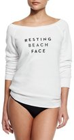 Milly Resting Beach Face Sweatshirt, White