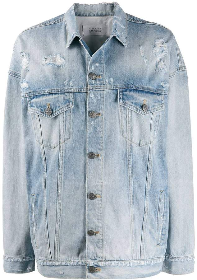 Givenchy over-sized light blue denim jacket