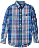 Polo Ralph Lauren Plaid Cotton Poplin Top Boy's Long Sleeve Button Up