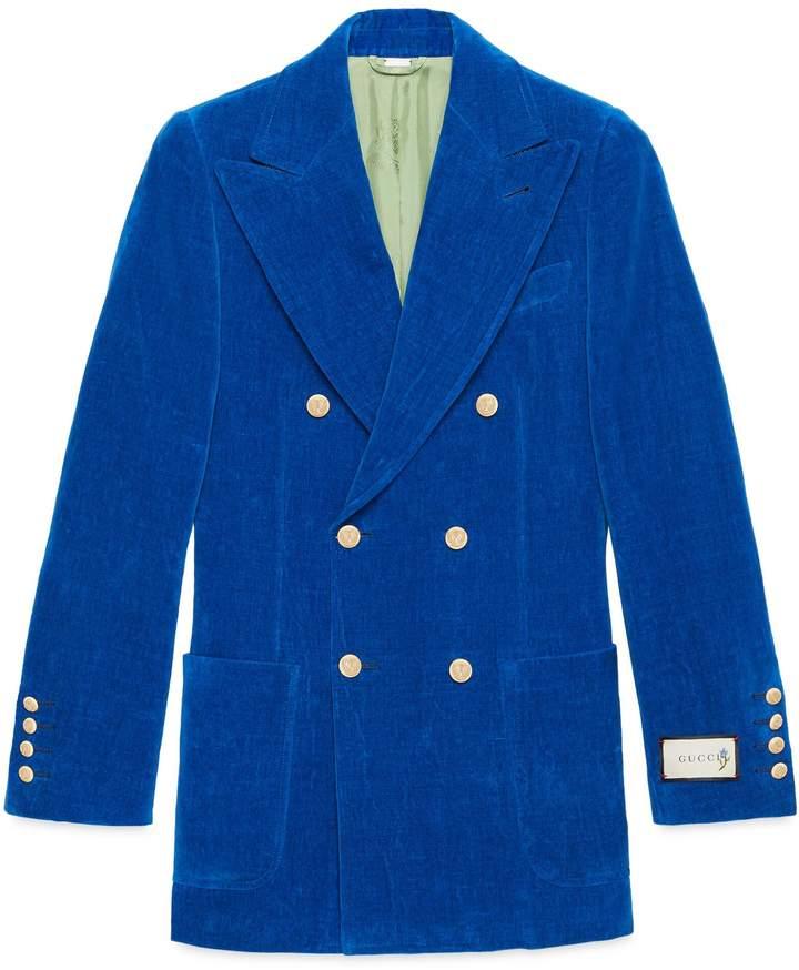 080009c30 Gucci Velvet Jacket - ShopStyle