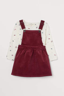H&M Bib Overall Dress and Top - Red
