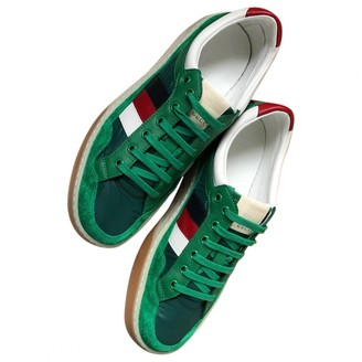 Gucci Green Leather Trainers