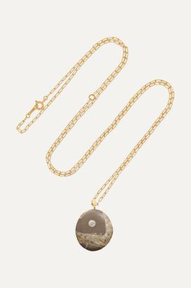 Cvc Stones Mottle 18-karat Gold, Stone And Diamond Necklace - one size