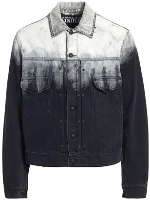 Versace Ombre Denim Trucker Jacket