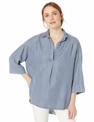 French Connection Women's Rhodes Poplin Light Weight Long Sleeve Oversized Shirt