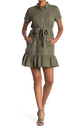 Velvet Heart Elodie Tie Waist Chambray Shirt Dress