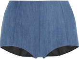 Noë James high-rise stretch-denim boy shorts