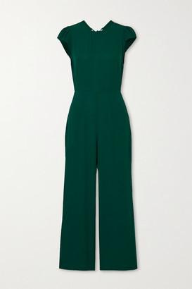 Reformation + Net Sustain Mayer Open-back Crepe Jumpsuit - Emerald
