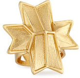 Stephanie Kantis Vivid Carved Ribbon Ring, Gold