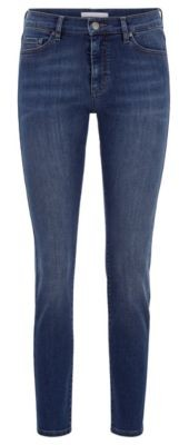 HUGO BOSS Slim-fit jeans in dark-blue comfort-stretch denim