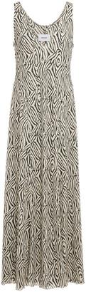 Nanushka Corinne Zebra-print Jersey Maxi Dress