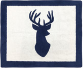 Sweet Jojo Designs Woodland Deer Hand-Tufted Navy/White Area Rug