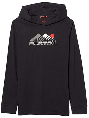 Burton Ripton Hooded Long Sleeve T-Shirt (Little Kids/Big Kids) (True Black) Kid's Clothing
