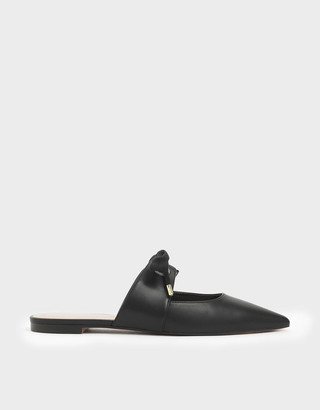 Charles & Keith Bow Strap Pointed Toe Mules