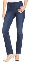 Jag Petite Peri Straight-Leg Indigo Wash Pull-On Jeans