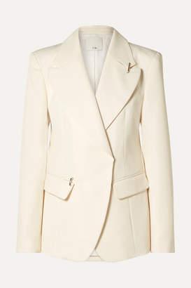 Tibi Embellished Twill Blazer - Ivory