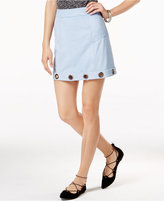 Material Girl Juniors' Embellished Faux-Suede A-Line Skirt, Only at Macy's