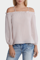 Glamorous Cold Shoulder Pleat Top
