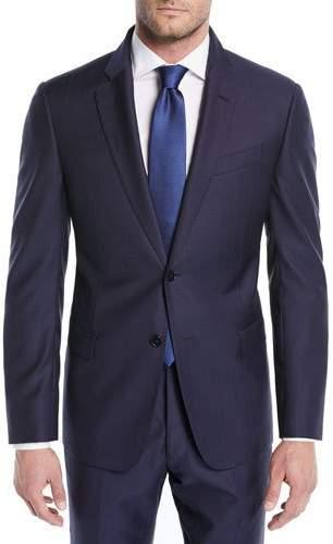 Emporio Armani Alternating Stripe Two-Piece Wool Suit