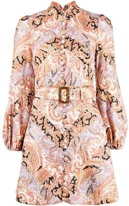 Zimmermann Paisley-Print Puff-Sleeve Dress