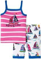 Hatley Sailboats Tank PJ Set (Toddler/Kid) - Pink - 5