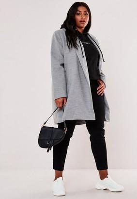 Missguided Size Grey Extreme Wrap Coat