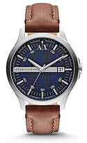 Armani Exchange Smart Leather Strap Stainless Steel Watch