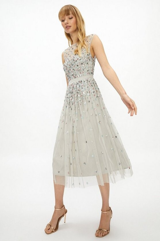 Thumbnail for your product : Coast Cluster Embellished Midi Dress
