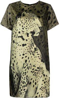 Roberto Cavalli animal-print T-shirt dress