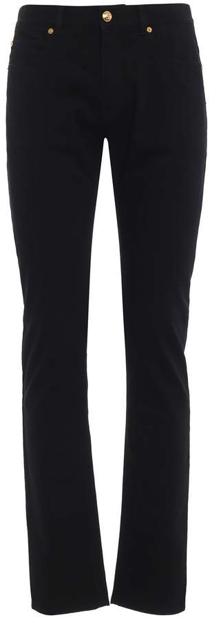 Versace Embroidered Flared Jeans
