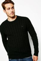 Jack Wills Redmore Cashmere Cable Crew Neck Sweater