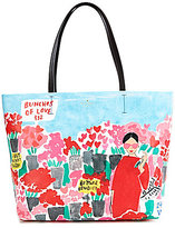Kate Spade Be Mine Collection Hallie Rose Market Tote