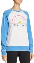Spiritual Gangster 1976 Sunset Graphic Color Block Sweatshirt