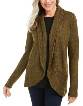 Karen Scott Marled-Knit Cardigan, Created for Macy's