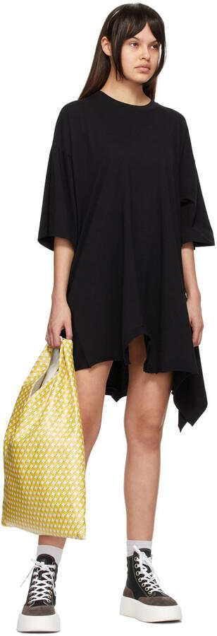 Thumbnail for your product : MM6 MAISON MARGIELA Black Double Tee Dress
