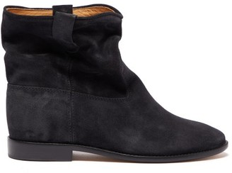 Isabel Marant Crisi Suede Ankle Boots - Womens - Black