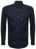 Lacoste Long Sleeved Slim Fit Shirt Navy
